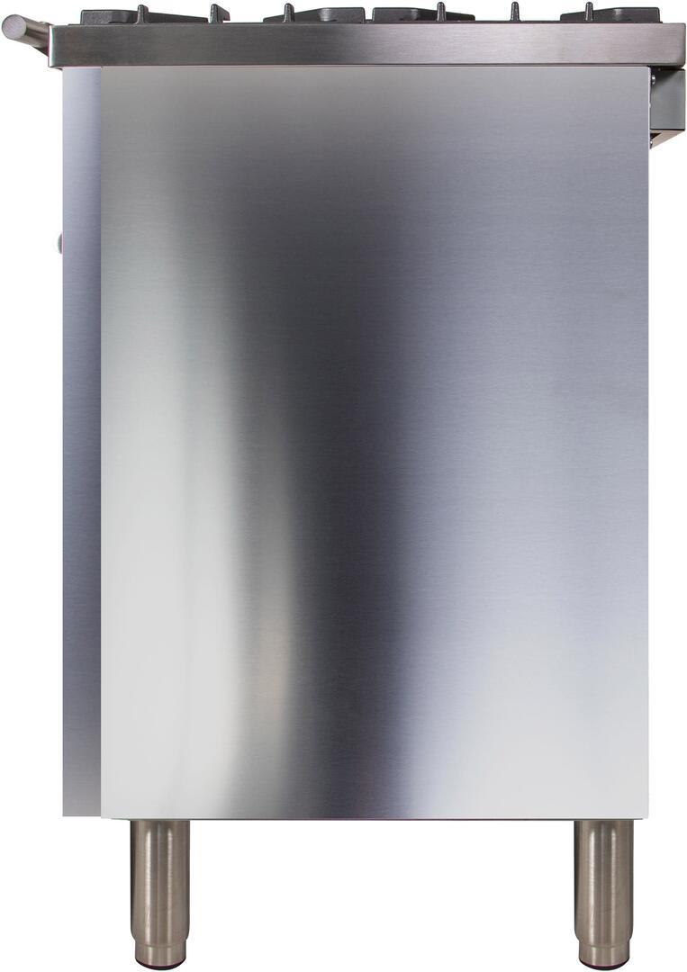 Ilve Professional Plus UPDW90FDMPILP Freestanding Dual Fuel Range Stainless Steel, ILVE UPDW90FDMPING Range Left