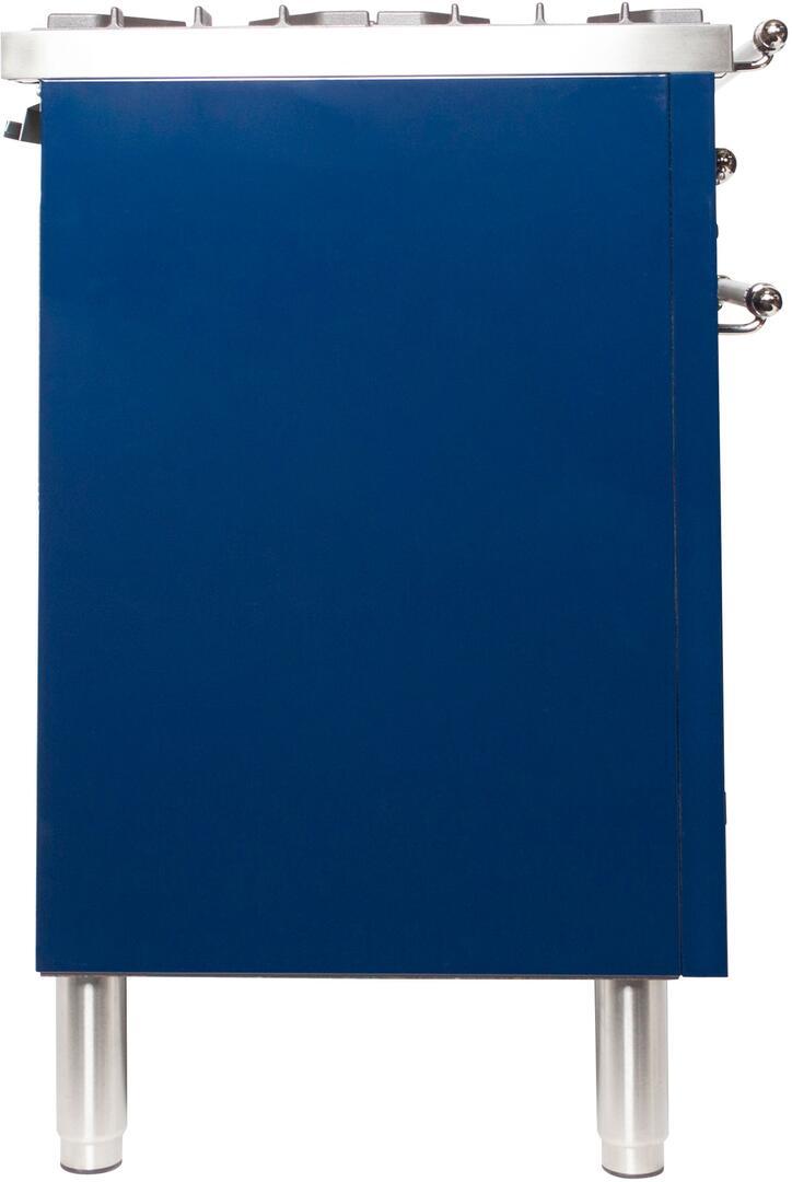 Ilve Nostalgie UPDN100FDMPBLXLP Freestanding Dual Fuel Range Blue, UPDN100FDMPBLXLP Side View
