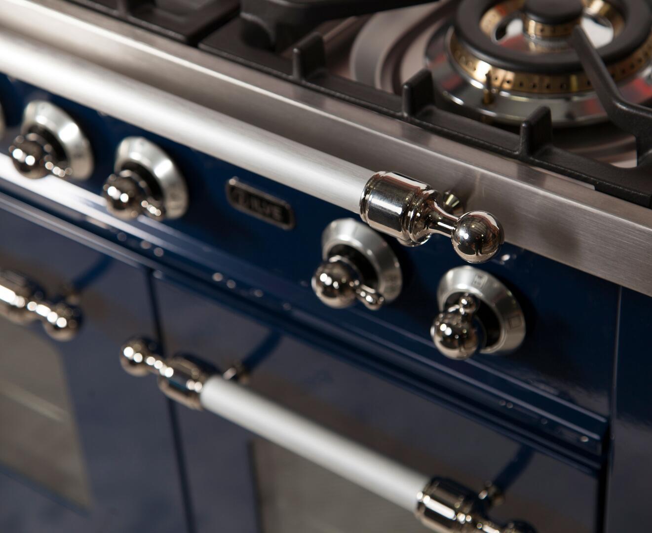 Ilve Nostalgie UPDN100FDMPBLXLP Freestanding Dual Fuel Range Blue, UPDN100FDMPBLXLP  Details