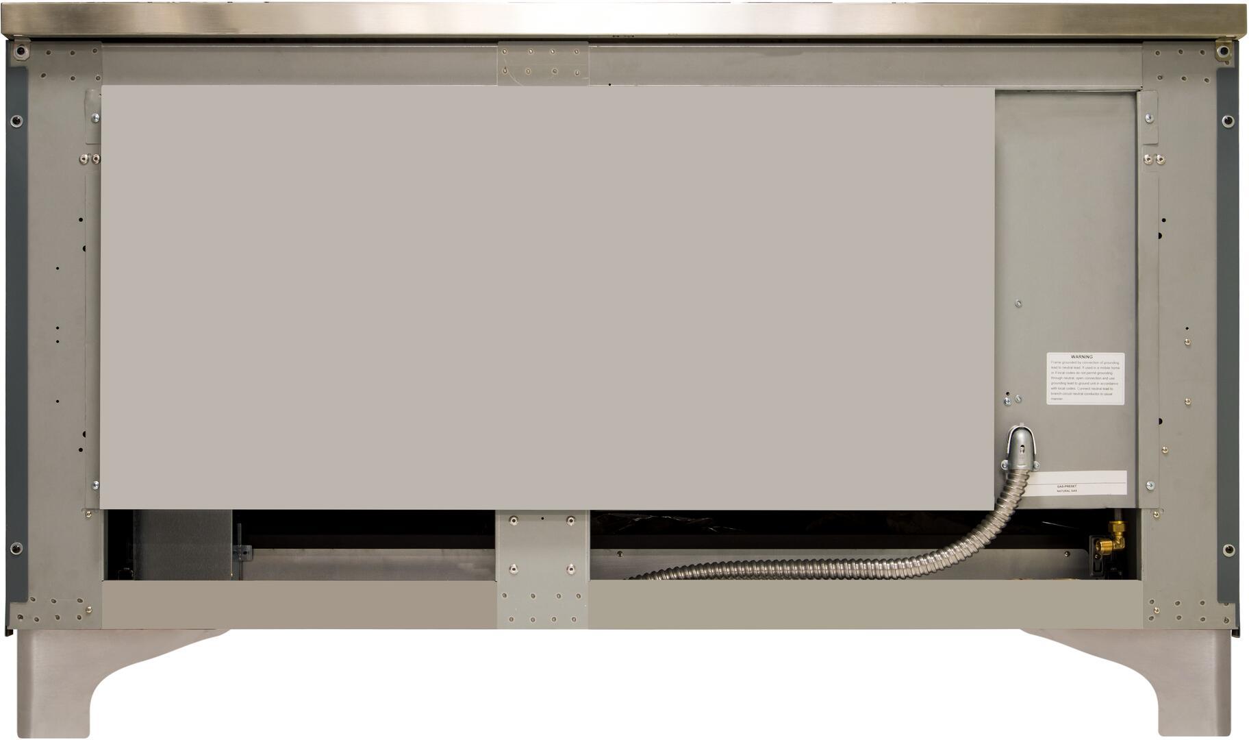 Ilve Majestic II UM15FDNS3BGC Freestanding Dual Fuel Range , UM15FDNS3GUC-Back