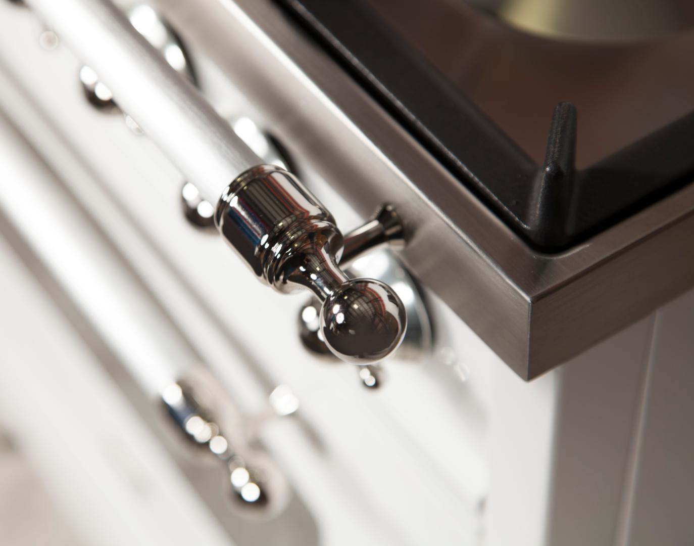 Ilve Nostalgie UPN120FDMPBX Freestanding Dual Fuel Range White, UPN120FDMPBX Details 2