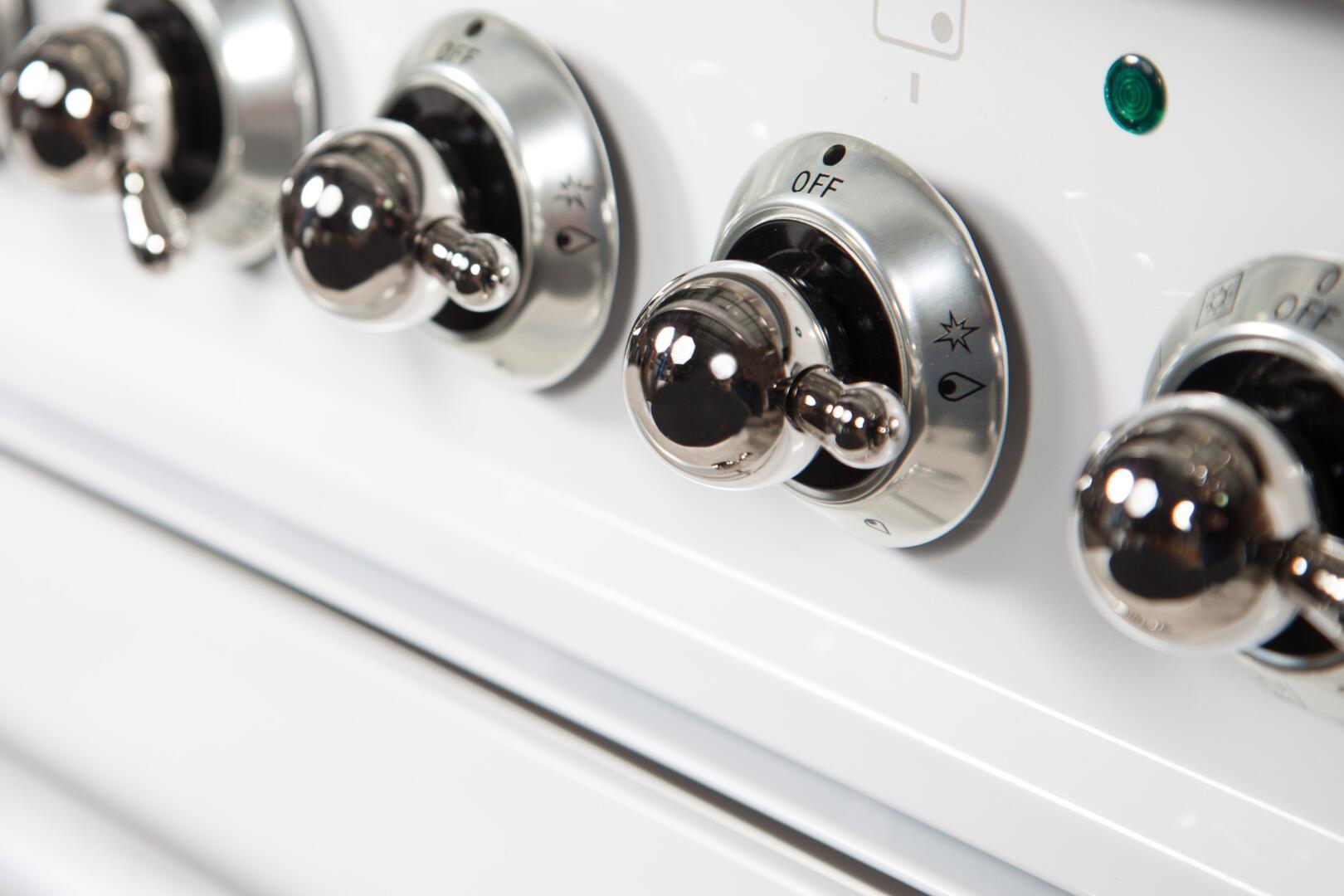 Ilve Nostalgie UPN120FDMPBX Freestanding Dual Fuel Range White, UPN120FDMPBX Details 3