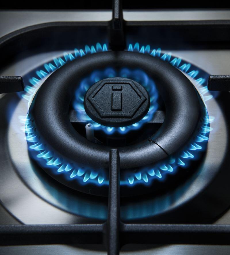 Ilve Majestic II UM30DNE3BKPLP Freestanding Dual Fuel Range Black, UM30D-Burner-D-FL