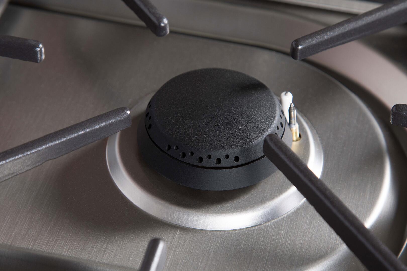 Ilve Majestic II UM30DNE3BKPLP Freestanding Dual Fuel Range Black, UM30D-Burner-S