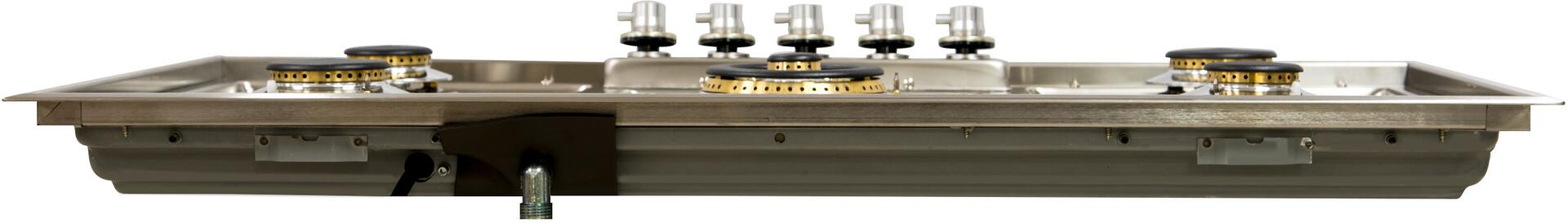 Ilve  UHP95CI Gas Cooktop Stainless Steel, Rear View