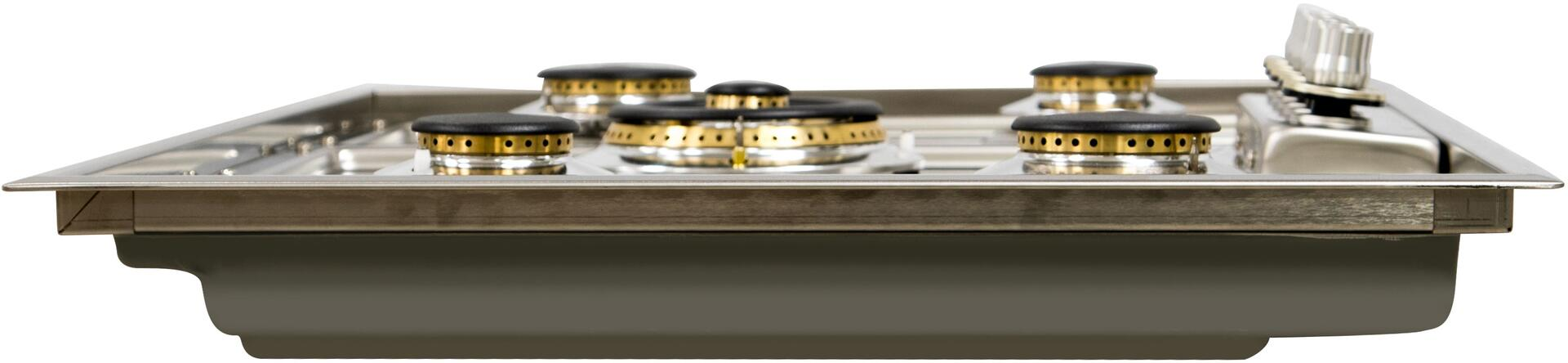 Ilve  UHP95CI Gas Cooktop Stainless Steel, Side View