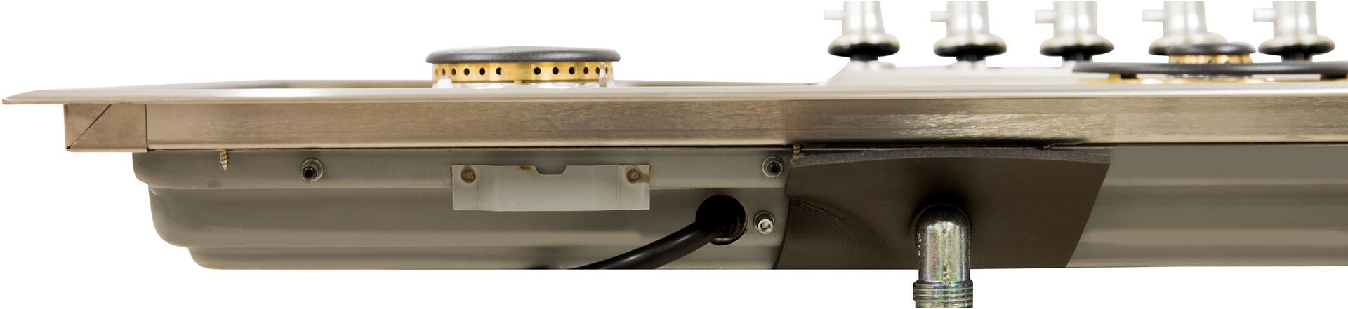 Ilve  UHP95CI Gas Cooktop Stainless Steel, Rear View Close Up