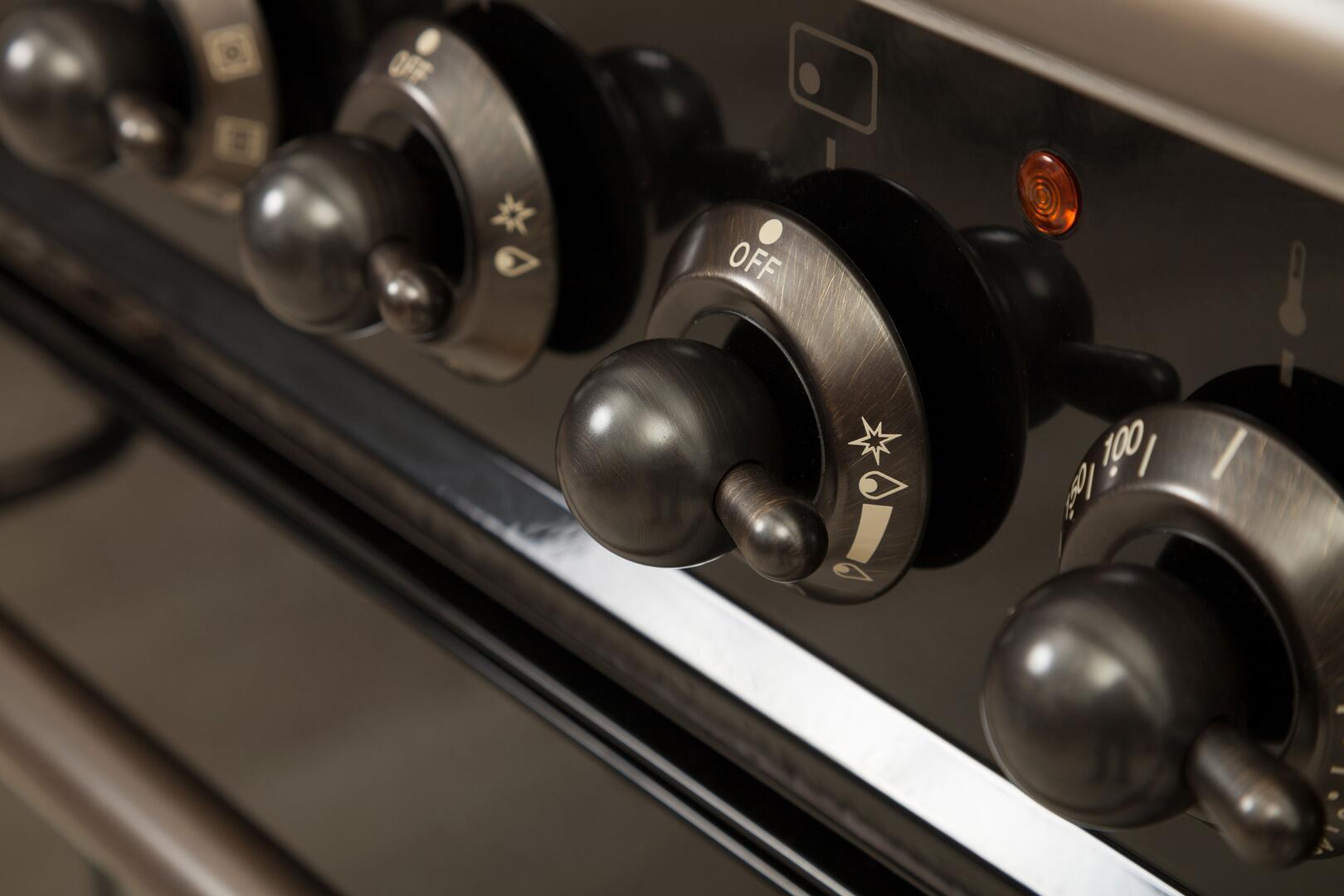 Ilve Nostalgie UPDN100FDMPMY Freestanding Dual Fuel Range Slate, 6
