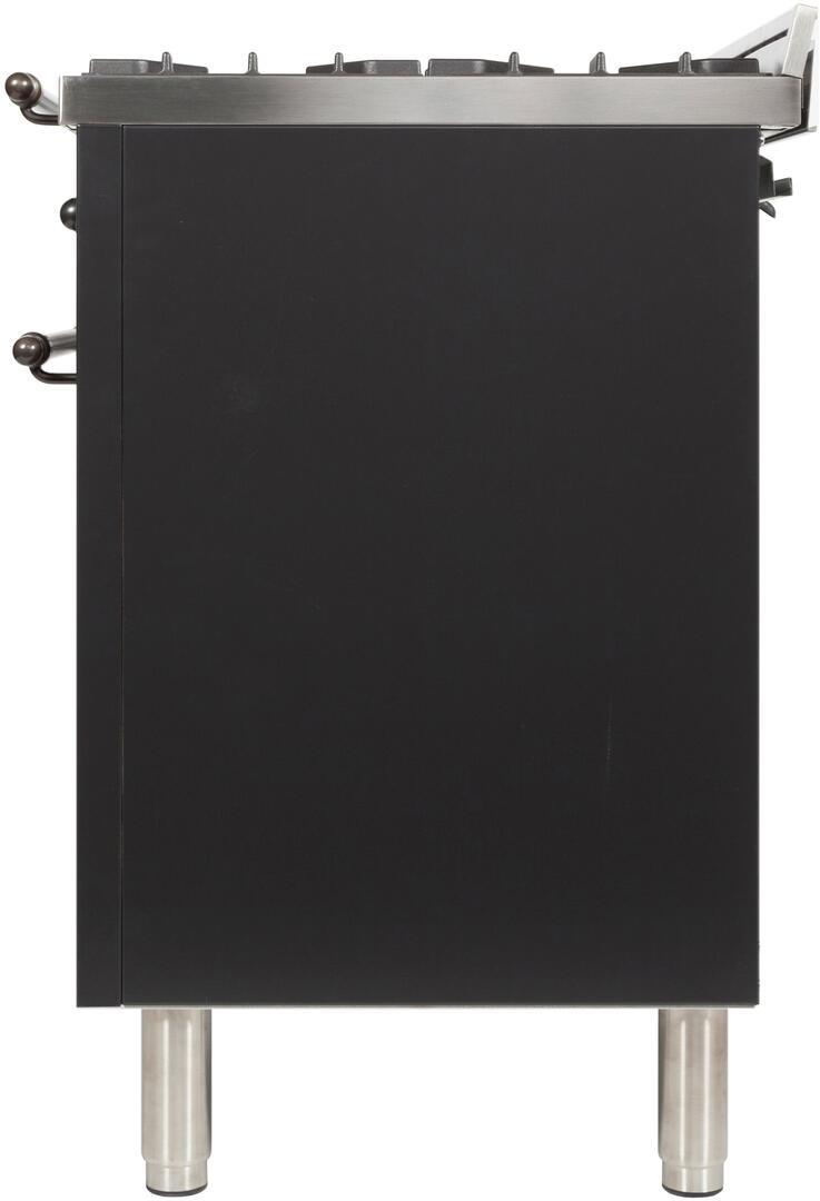 Ilve Nostalgie UPDN100FDMPMY Freestanding Dual Fuel Range Slate, UPDN100FDMPMY Side View