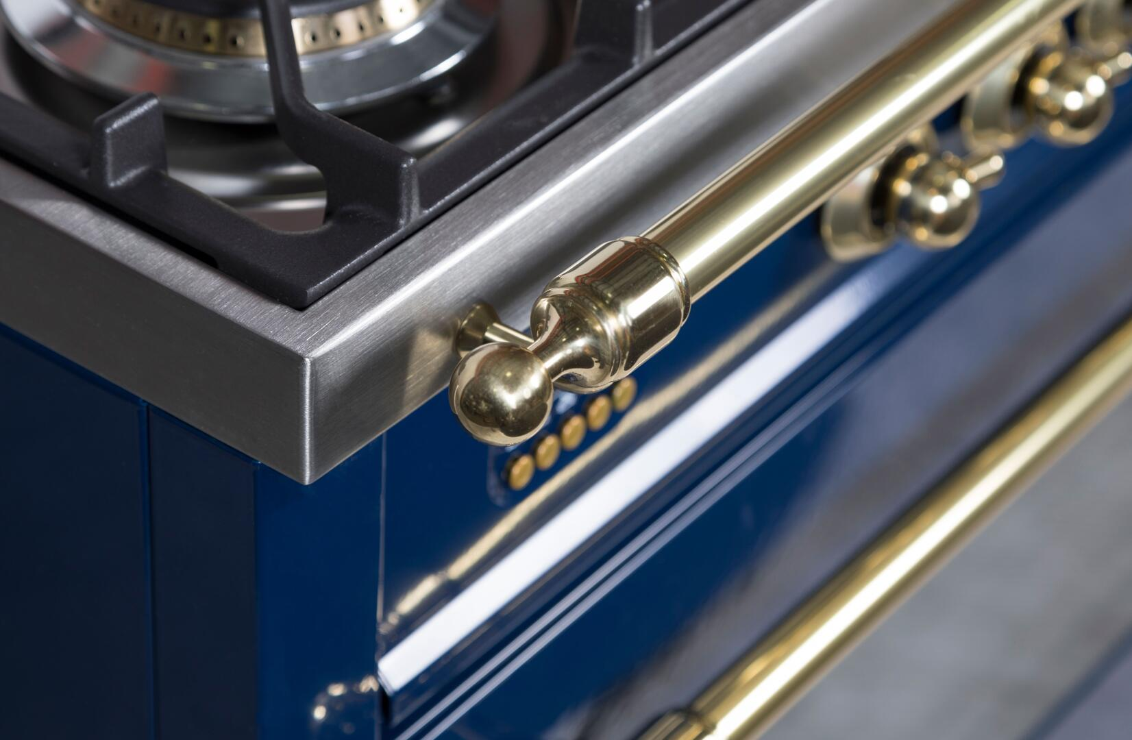 Ilve Nostalgie UPN90FDMPBL Freestanding Dual Fuel Range Blue, ILVE UPN90FDMPBL Range Lifestyle