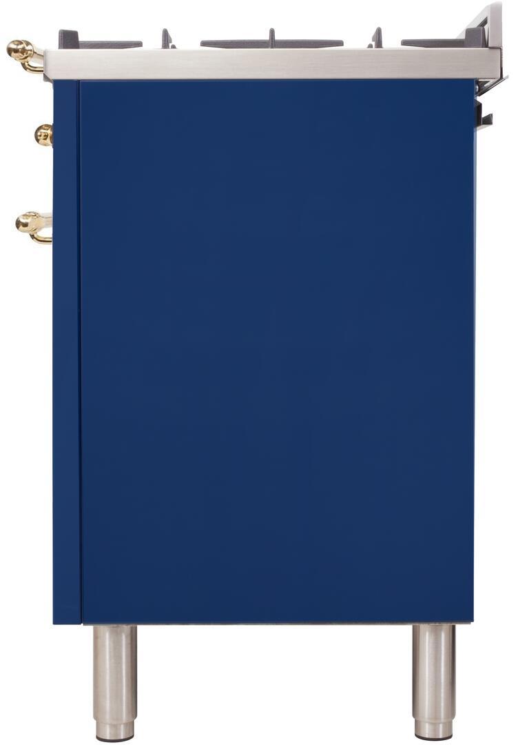 Ilve Nostalgie UPN90FDMPBL Freestanding Dual Fuel Range Blue, uis image 1