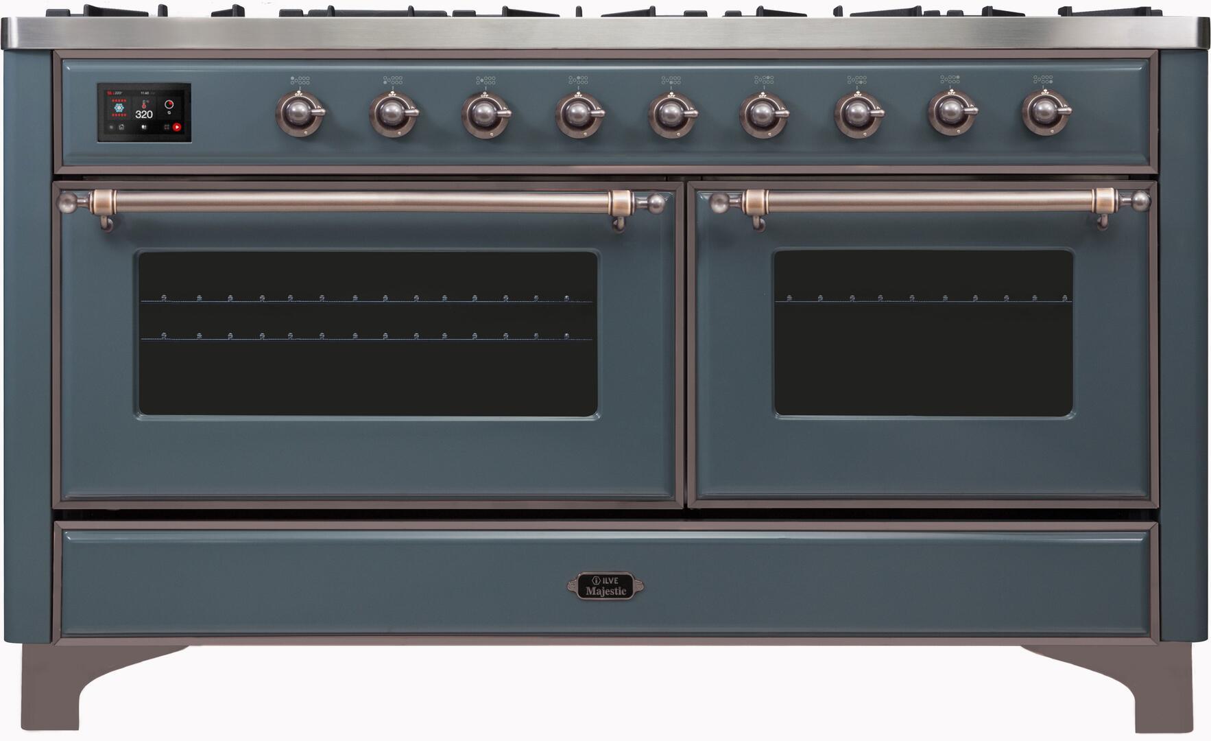 Ilve Majestic II UM15FDNS3BGB Freestanding Dual Fuel Range , UM15FDNS3GUB-Front-CD