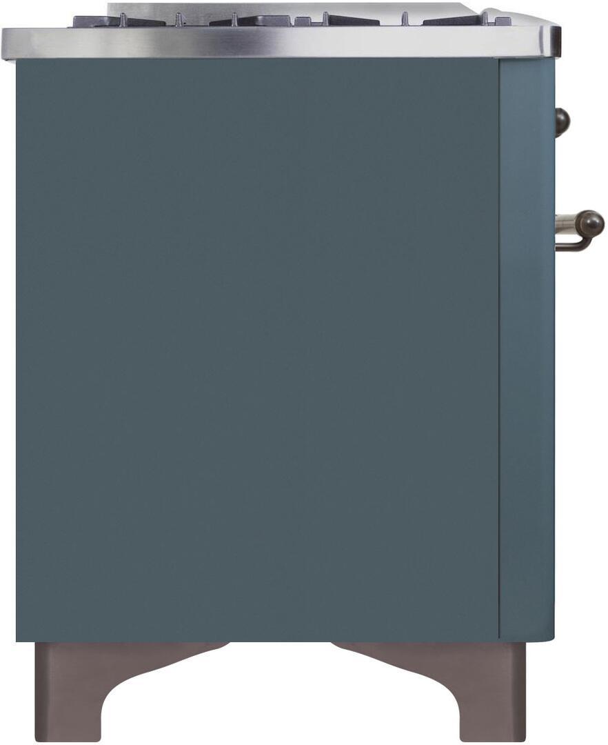 Ilve Majestic II UM15FDNS3BGB Freestanding Dual Fuel Range , UM15FDNS3GUB-Left-CD