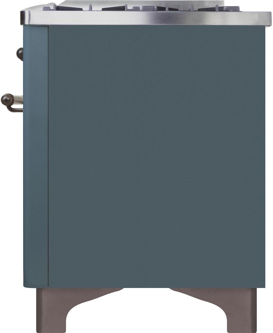 Ilve Majestic II UM15FDNS3BGB Freestanding Dual Fuel Range , UM15FDNS3GUB-Right-CD