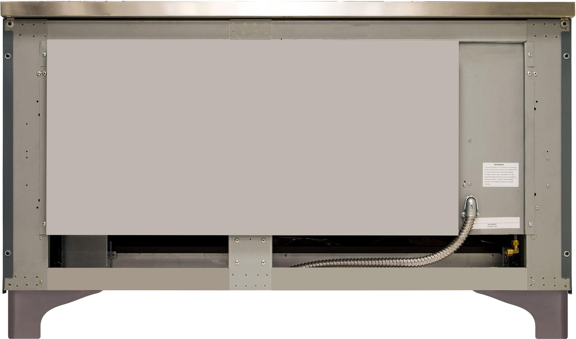 Ilve Majestic II UM15FDNS3BGB Freestanding Dual Fuel Range , UM15FDNS3GUB-Back