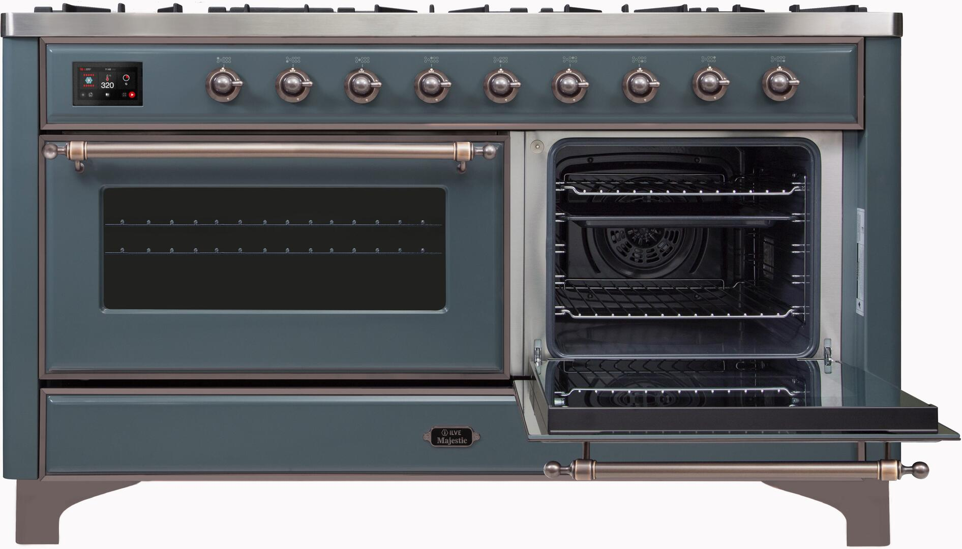 Ilve Majestic II UM15FDNS3BGBLP Freestanding Dual Fuel Range , UM15FDNS3GUBLP-Front-ODR