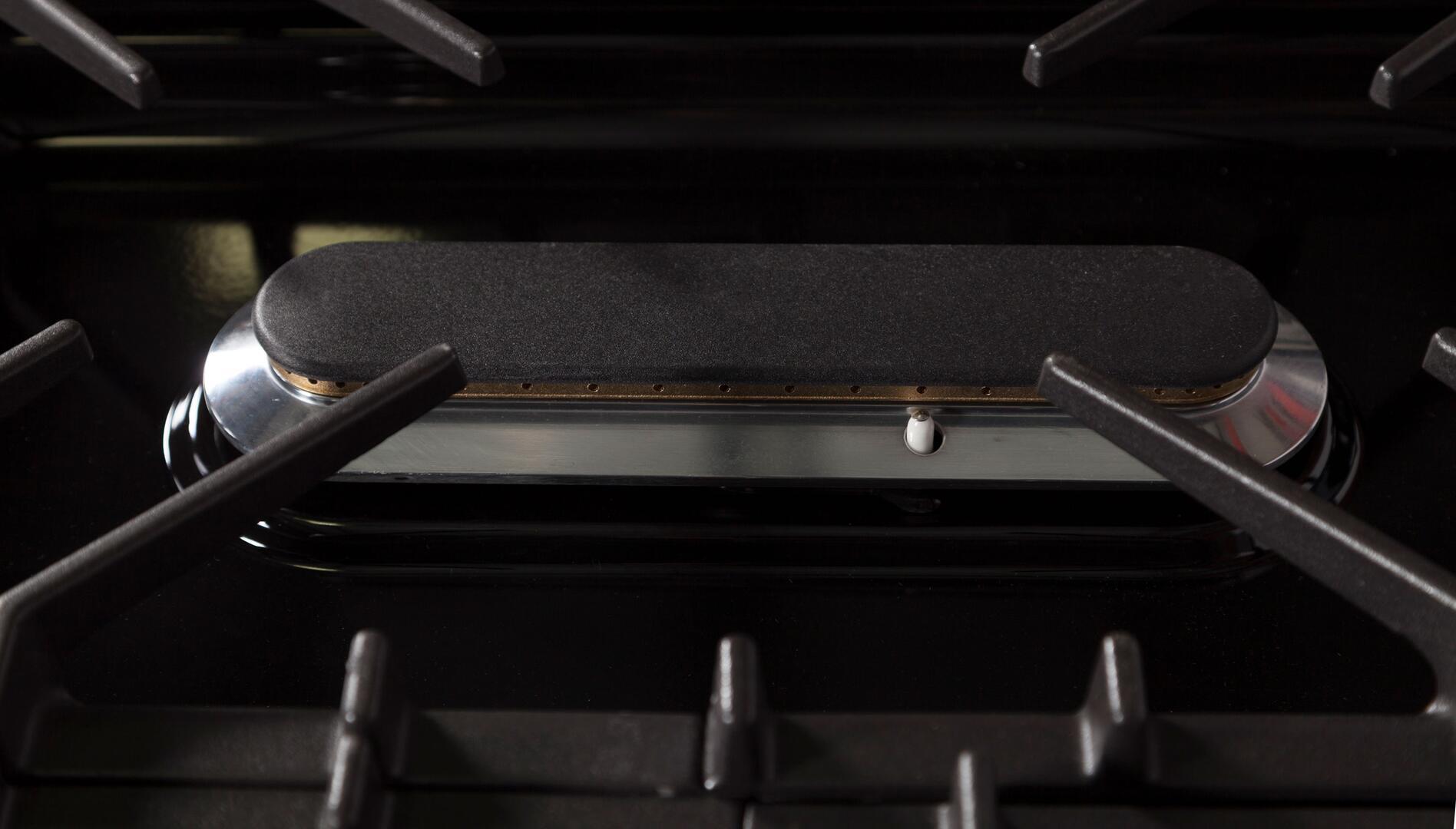 Ilve Professional Plus UPW90FDMPI Freestanding Dual Fuel Range Stainless Steel, Oval Burner