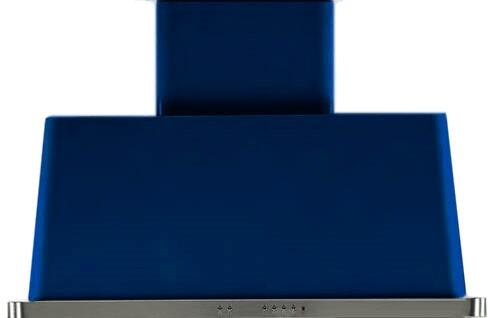 40 Inch Midnight Blue Wall Mount Convertible Hood with 600 CFM & Halogen Lights