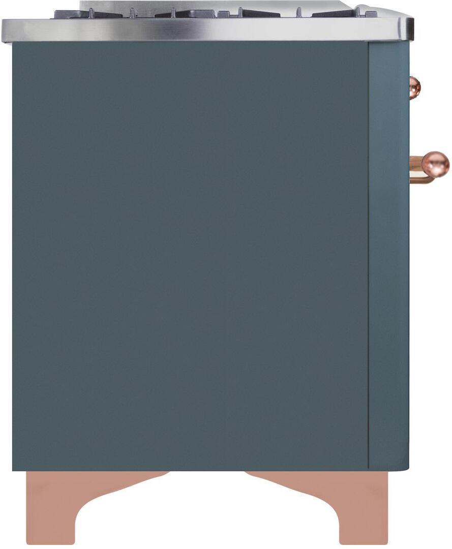 Ilve Majestic II UMD10FDNS3BGP Freestanding Dual Fuel Range , UMD10FDNS3GUP-Right-CD