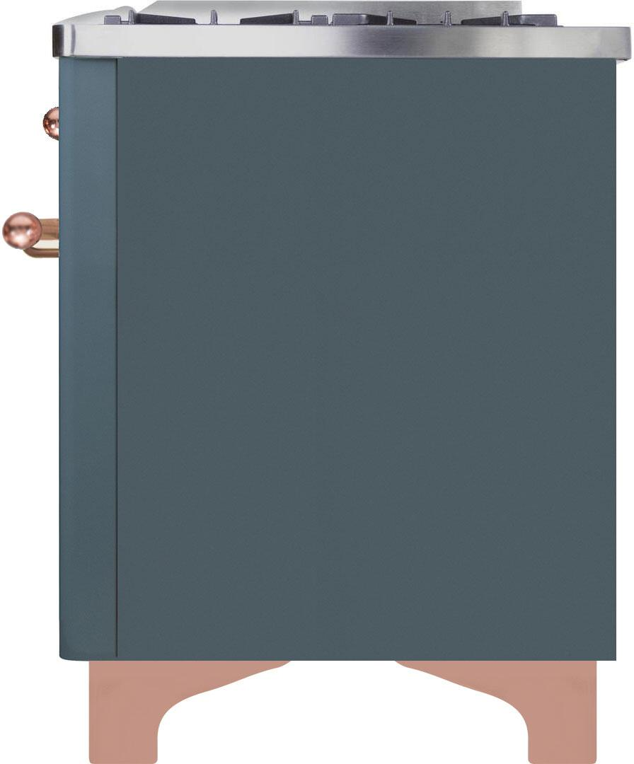 Ilve Majestic II UMD10FDNS3BGP Freestanding Dual Fuel Range , UMD10FDNS3GUP-Left-CD