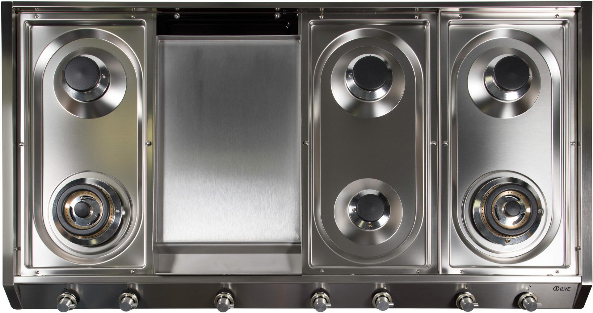 Ilve  UHP1265FDI Gas Cooktop Stainless Steel, UHP1265FDI Cooktop without Grates