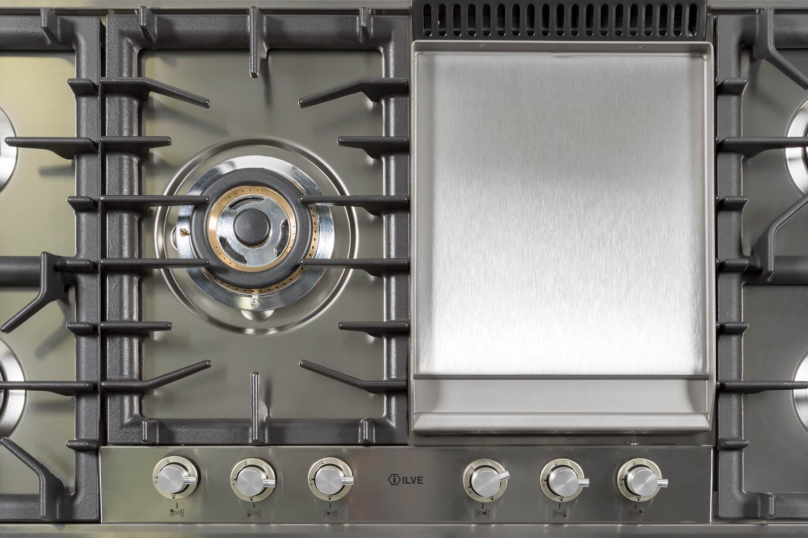 Ilve  UHP125FCI Gas Cooktop Stainless Steel, 9