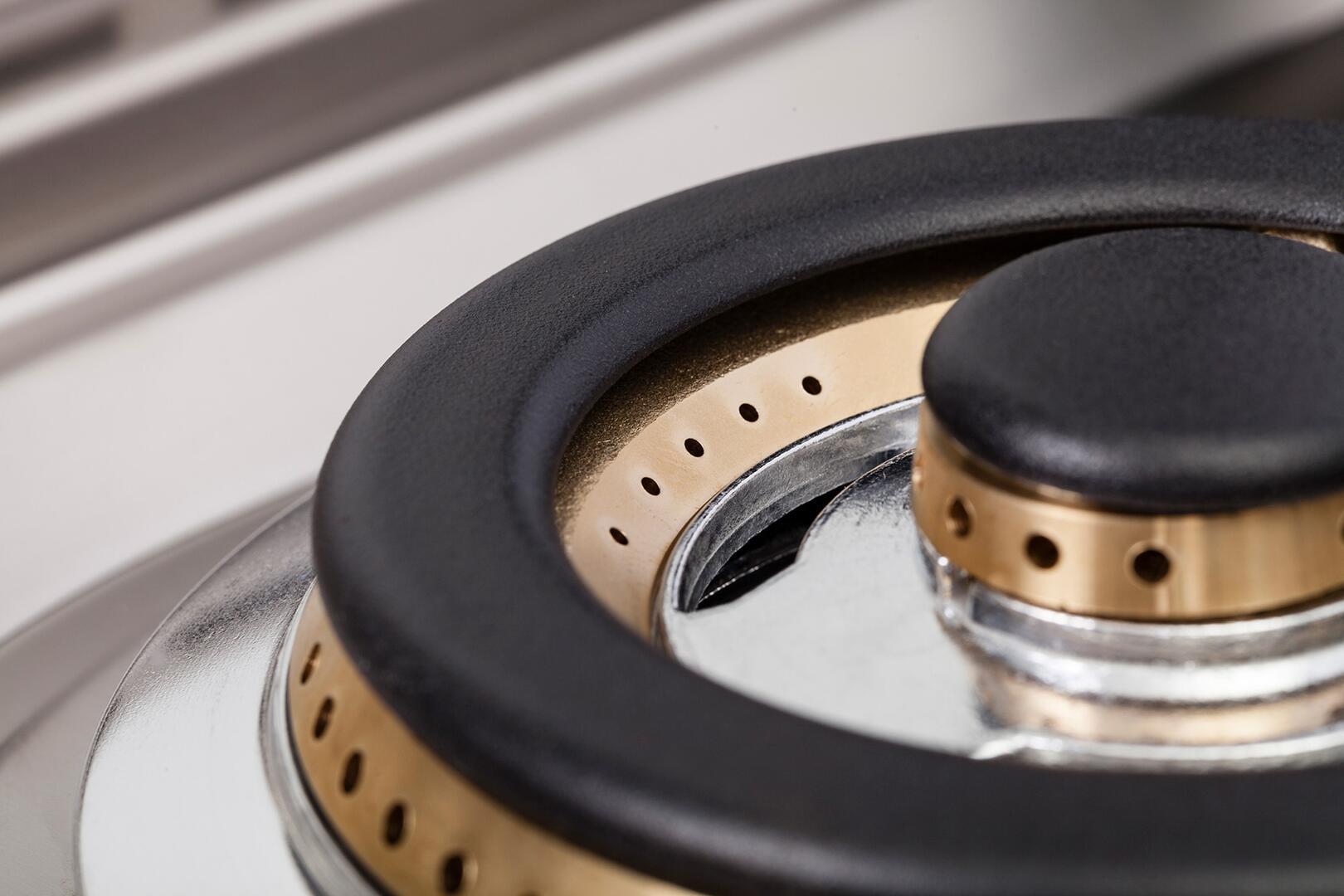 Ilve Professional Plus UPDW100FDMPMLP Freestanding Dual Fuel Range Gray, Burner View