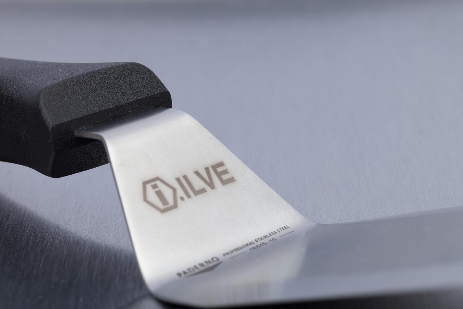 Ilve Professional Plus UPDW100FDMPMLP Freestanding Dual Fuel Range Gray, Logo
