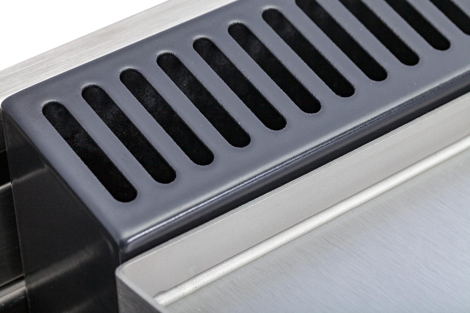 Ilve Professional Plus UPDW100FDMPMLP Freestanding Dual Fuel Range Gray, Details View