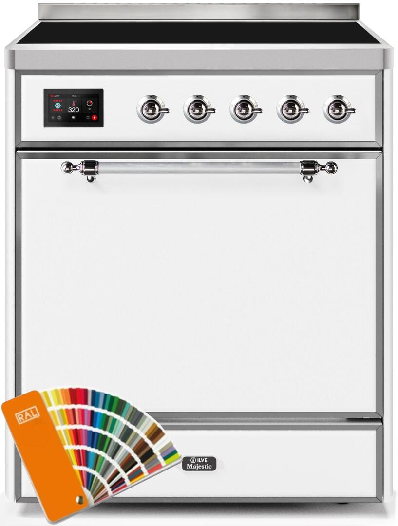 Ilve Majestic II UMI30QNE3RALC Freestanding Electric Range Custom Color, UMI30QNE3RALC-Front-CD-A