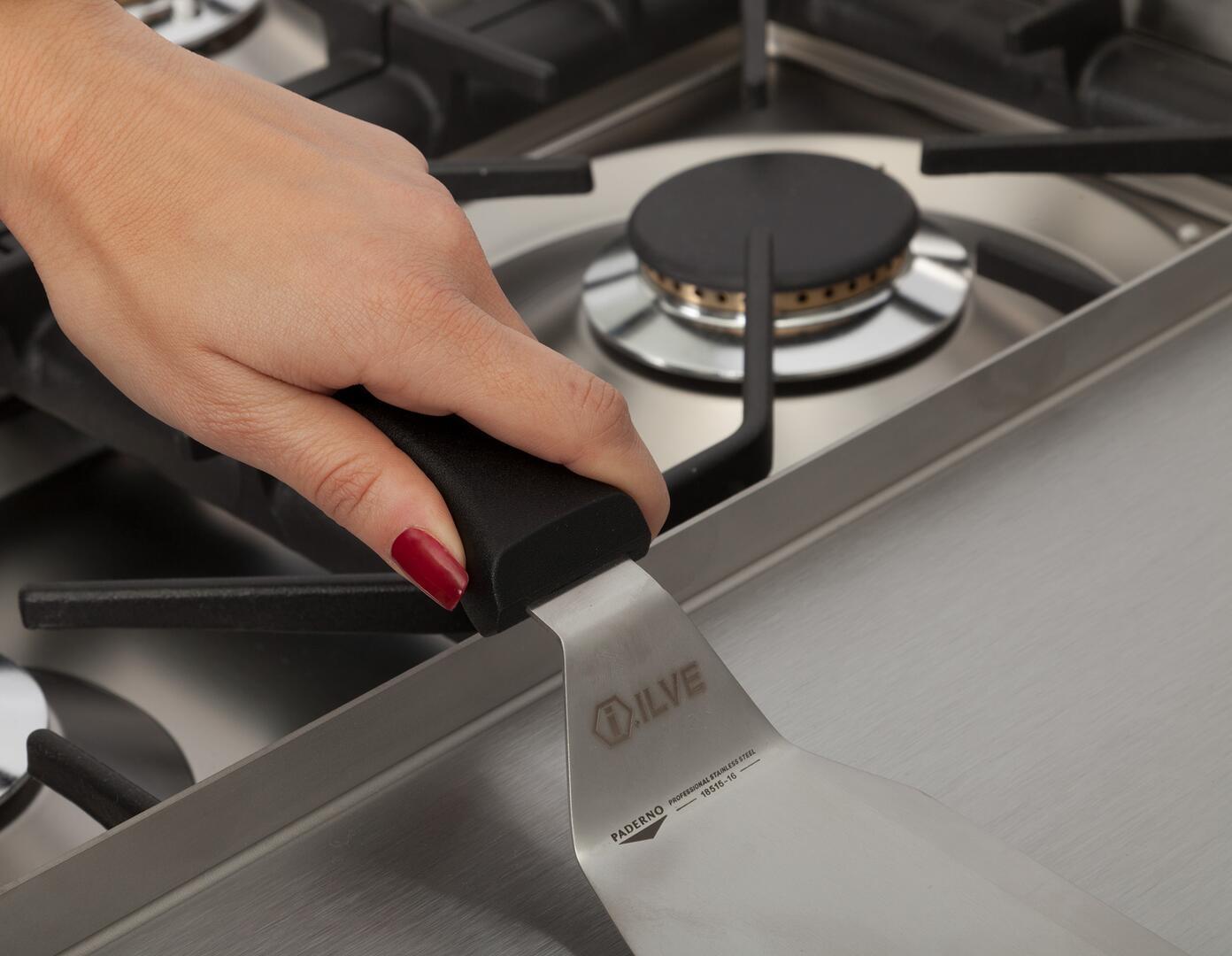 Ilve Professional Plus UPW120FDMPM Freestanding Dual Fuel Range Gray, 20