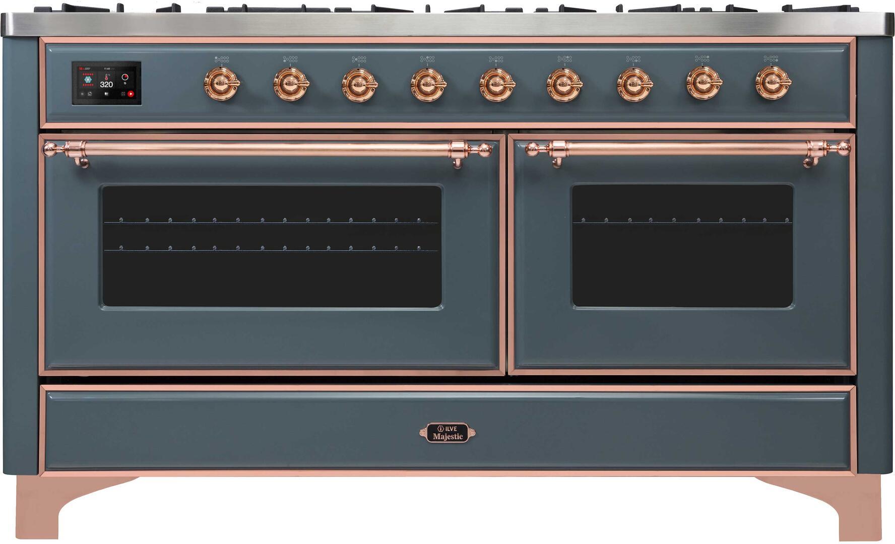 Ilve Majestic II UM15FDNS3BGP Freestanding Dual Fuel Range , UM15FDNS3GUP-Front-CD