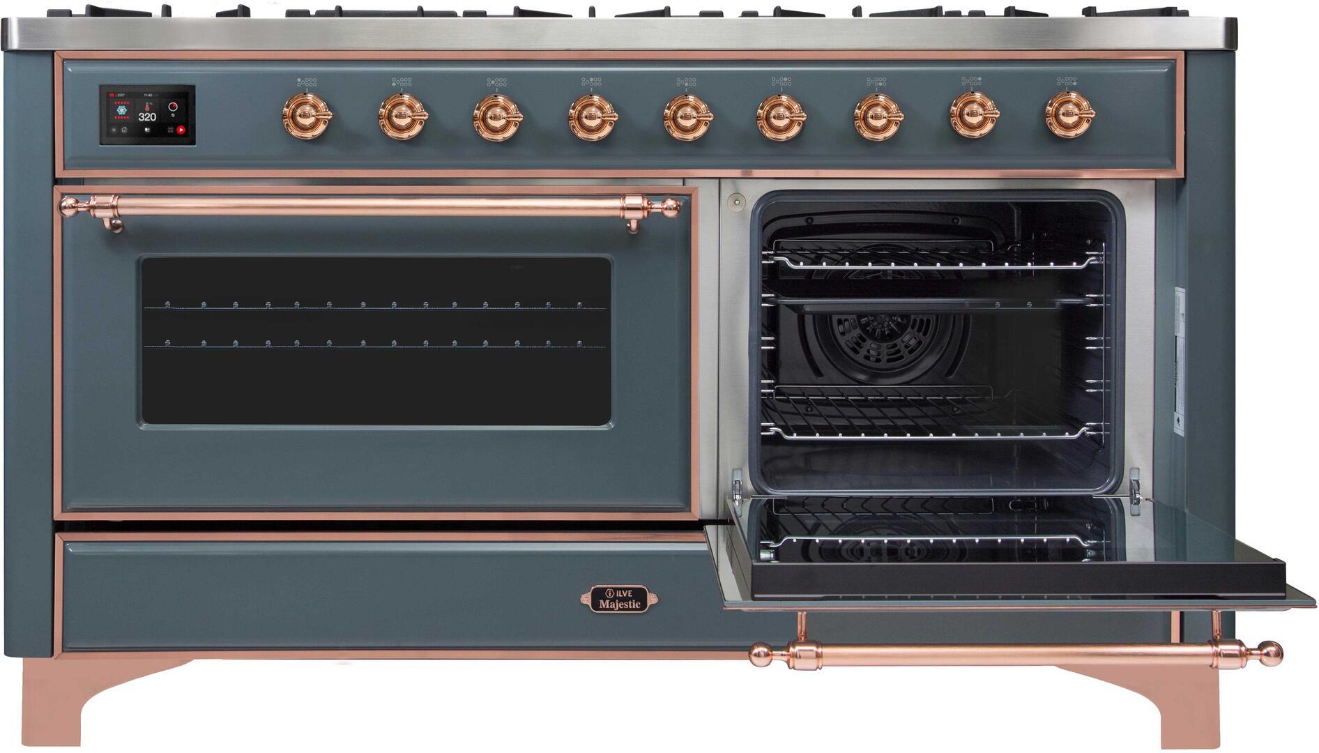Ilve Majestic II UM15FDNS3BGP Freestanding Dual Fuel Range , UM15FDNS3GUP-Front-ODR