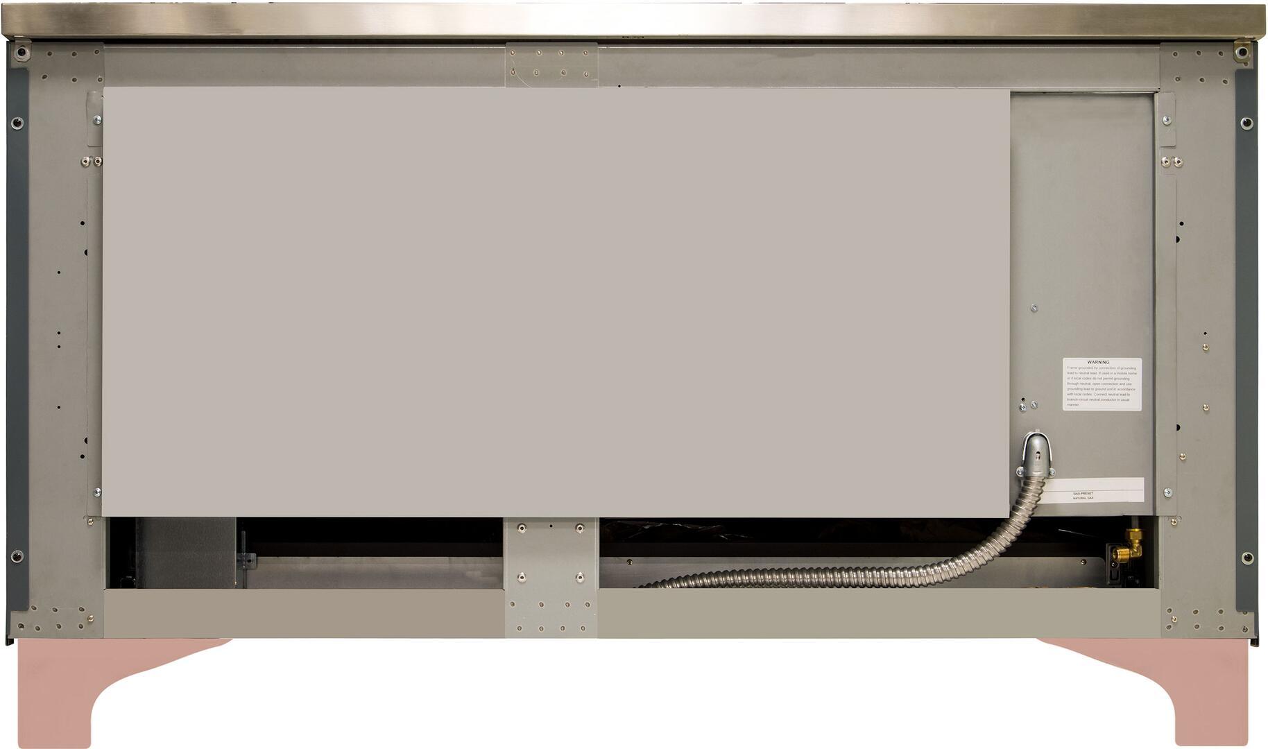 Ilve Majestic II UM15FDNS3BGP Freestanding Dual Fuel Range , UM15FDNS3GUP-Back