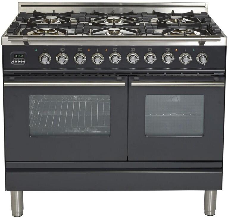 40 Inch Matte Graphite Dual Fuel Convection Freestanding Range