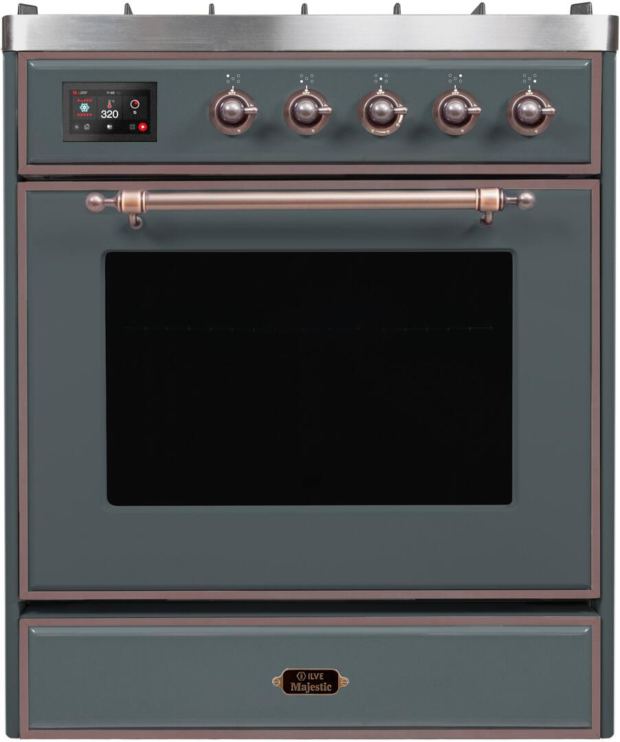 Ilve Majestic II UM30DNE3BGB Freestanding Dual Fuel Range , UM30DNE3GUB-Front-CD
