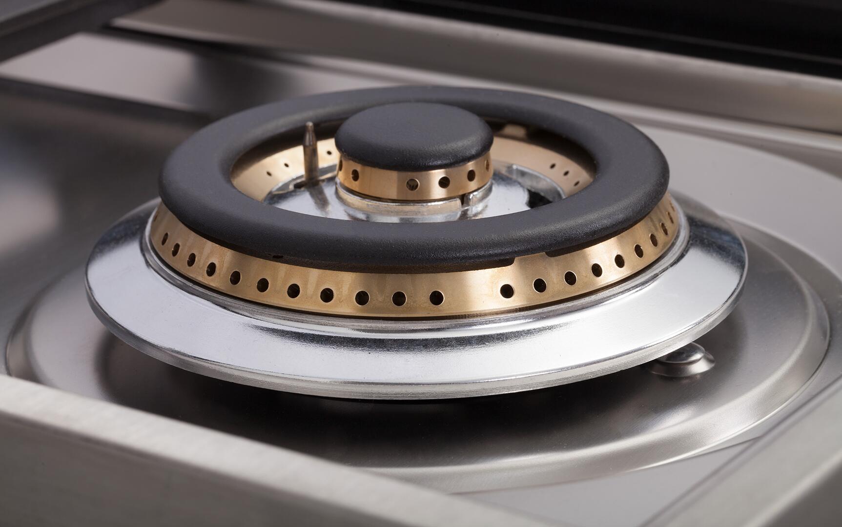 Ilve Nostalgie UPN90FDMPBL Freestanding Dual Fuel Range Blue, Dual Function Triple Ring Burner