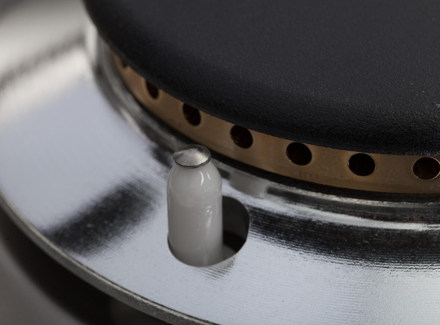 Ilve Nostalgie UPN90FDMPBL Freestanding Dual Fuel Range Blue, Burner Details View