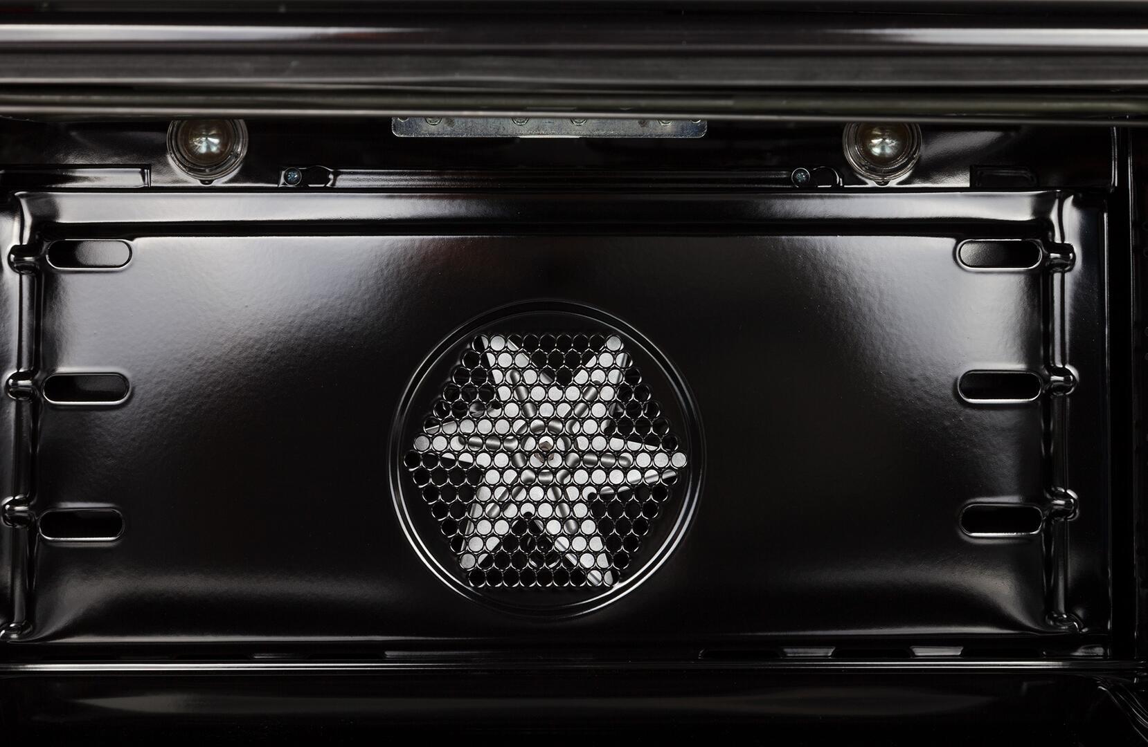 Ilve Nostalgie UPN90FDMPBL Freestanding Dual Fuel Range Blue, Oven Interior View