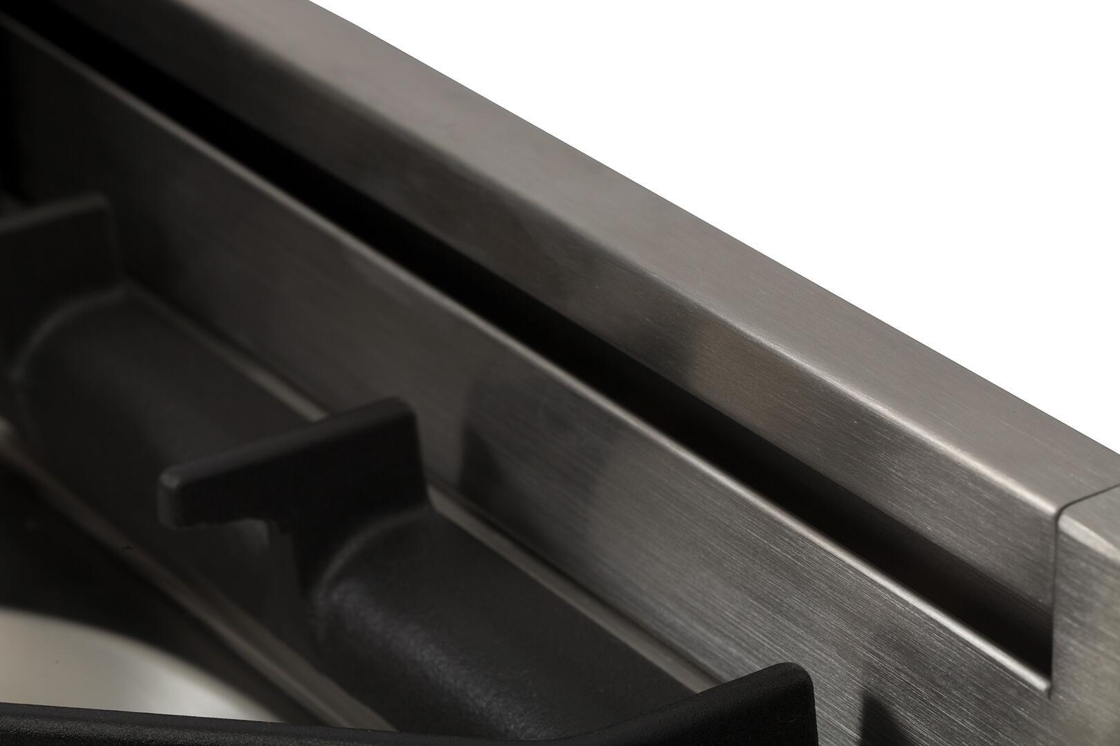 Ilve Nostalgie UPN90FDMPBL Freestanding Dual Fuel Range Blue, Backguard