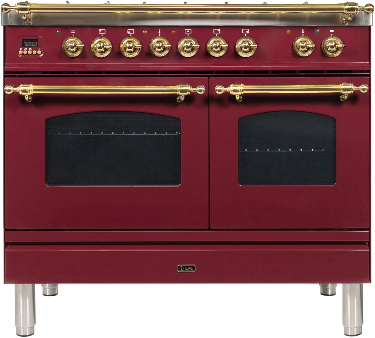 40 Inch Burgundy Dual Fuel Convection Freestanding Range
