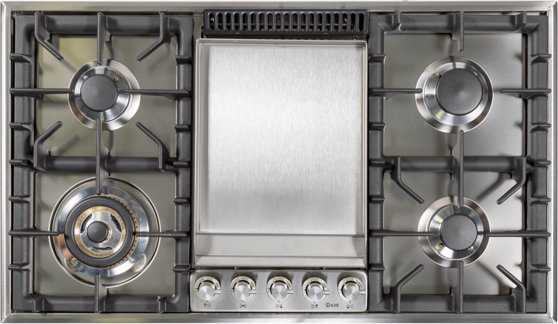 Ilve  UHP95FCI Gas Cooktop Stainless Steel, UHP95FCI Cooktop