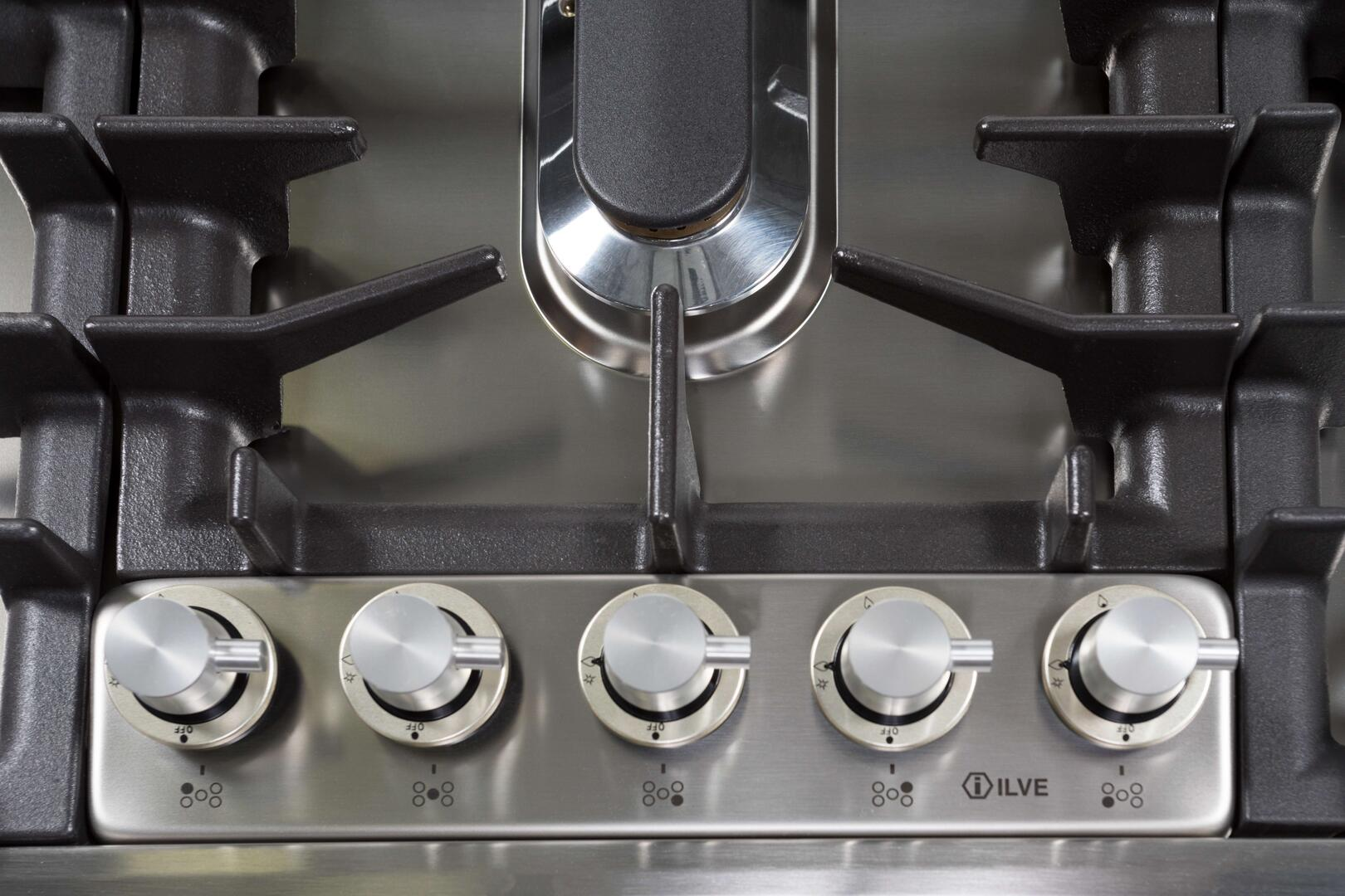 Ilve  UHP95FCI Gas Cooktop Stainless Steel, 9