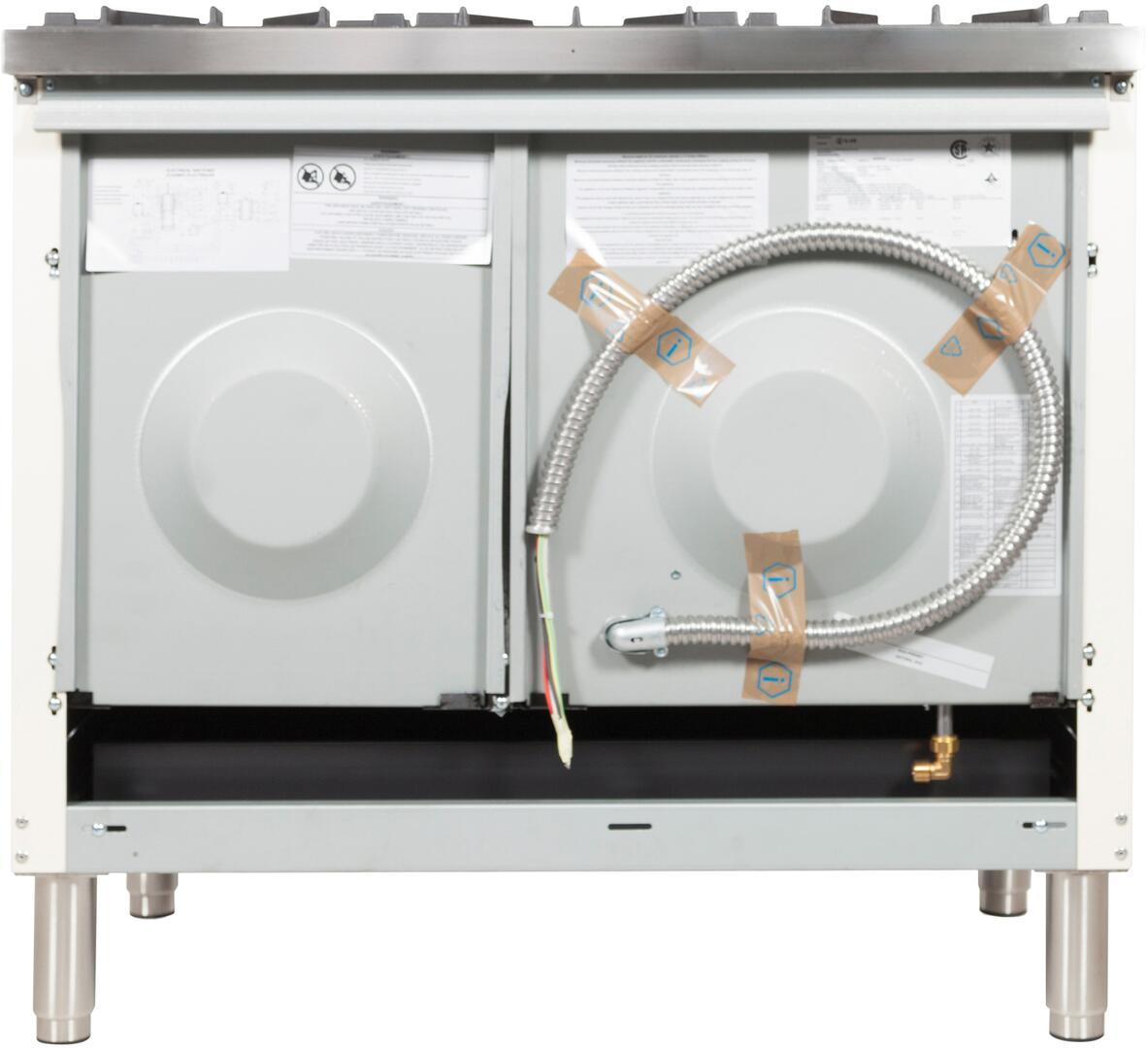 Ilve Nostalgie UPN120FDMPBXLP Freestanding Dual Fuel Range White, UPN120FDMPBXLP BAck View