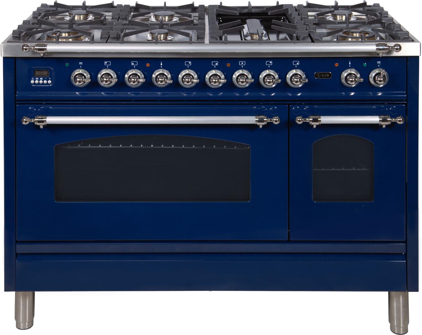 Ilve Nostalgie UPN120FDMPBLX Freestanding Dual Fuel Range Blue, UPN120FDMPBLX Dual Fuel Range