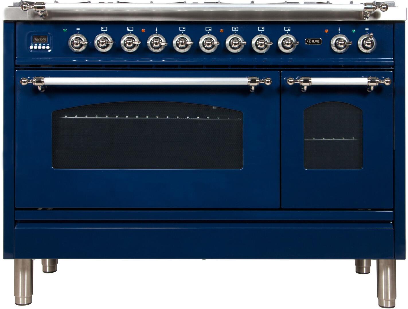 Ilve Nostalgie UPN120FDMPBLX Freestanding Dual Fuel Range Blue, UPN120FDMPBLX Front View