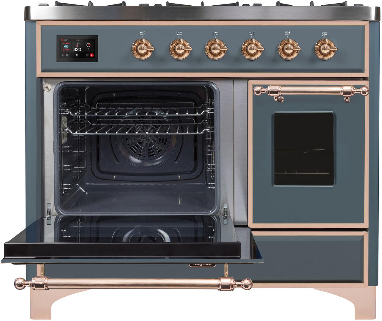 Ilve Majestic II UMD10FDNS3BGPLP Freestanding Dual Fuel Range , UMD10FDNS3LPGUPLP-Front-ODL