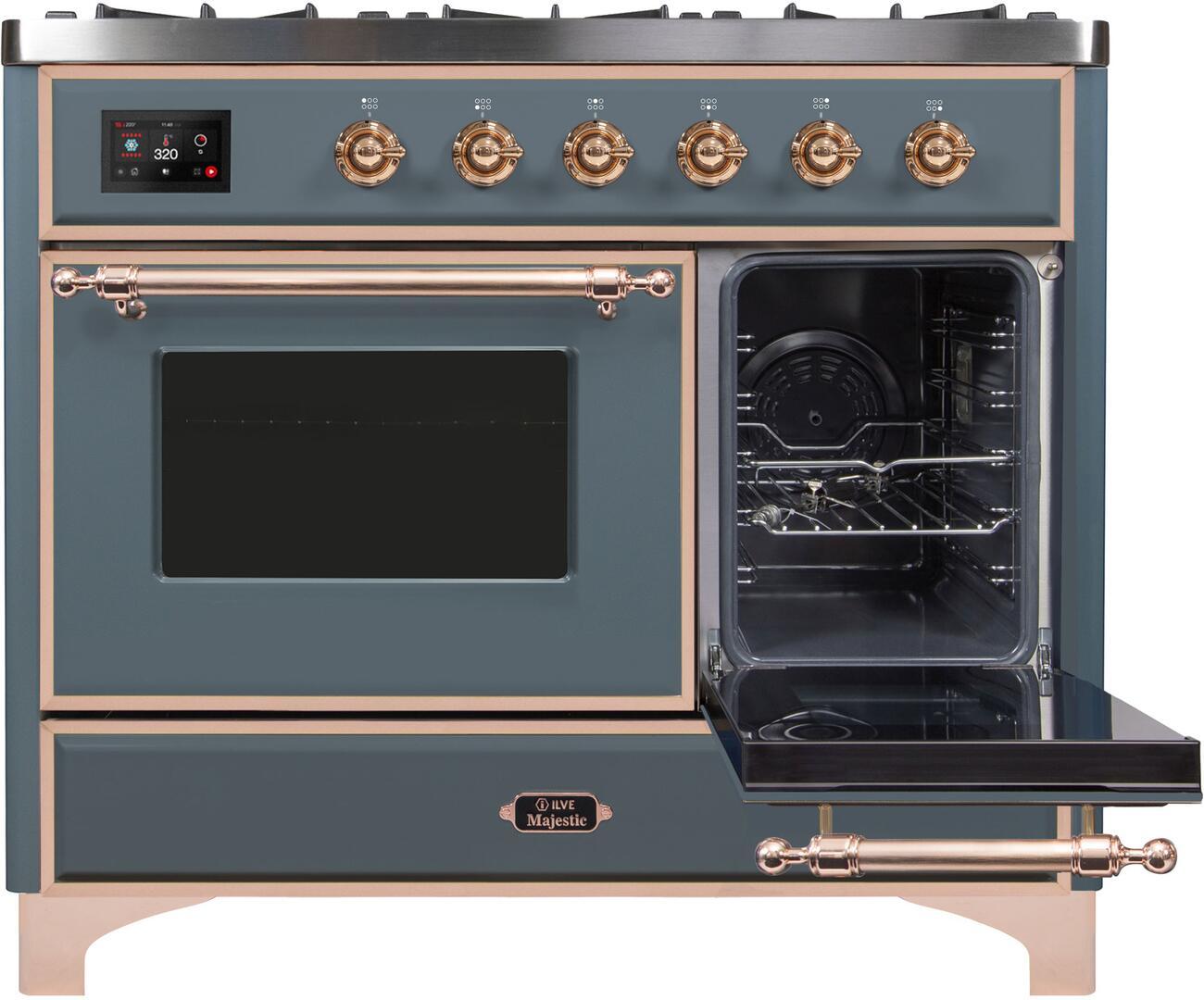 Ilve Majestic II UMD10FDNS3BGPLP Freestanding Dual Fuel Range , UMD10FDNS3LPGUPLP-Front-ODR