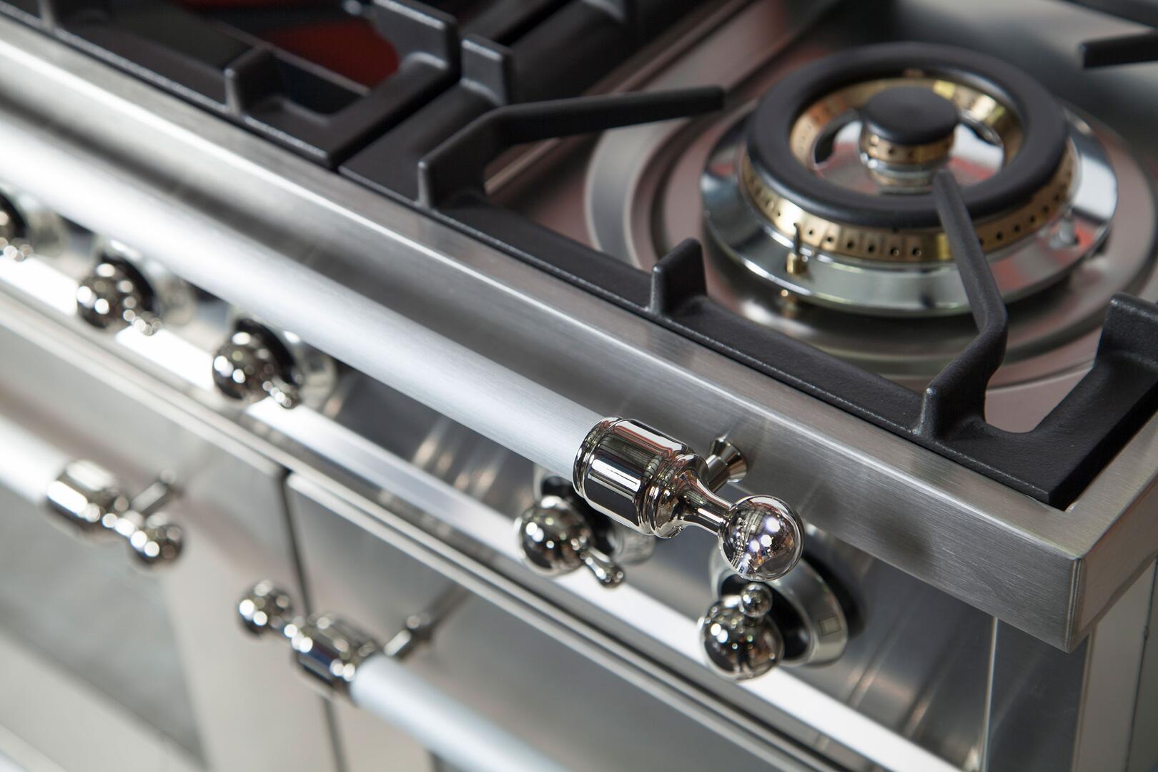 Ilve Nostalgie UPN90FDMPIX Freestanding Dual Fuel Range Stainless Steel, UPN90FDMPIX Details