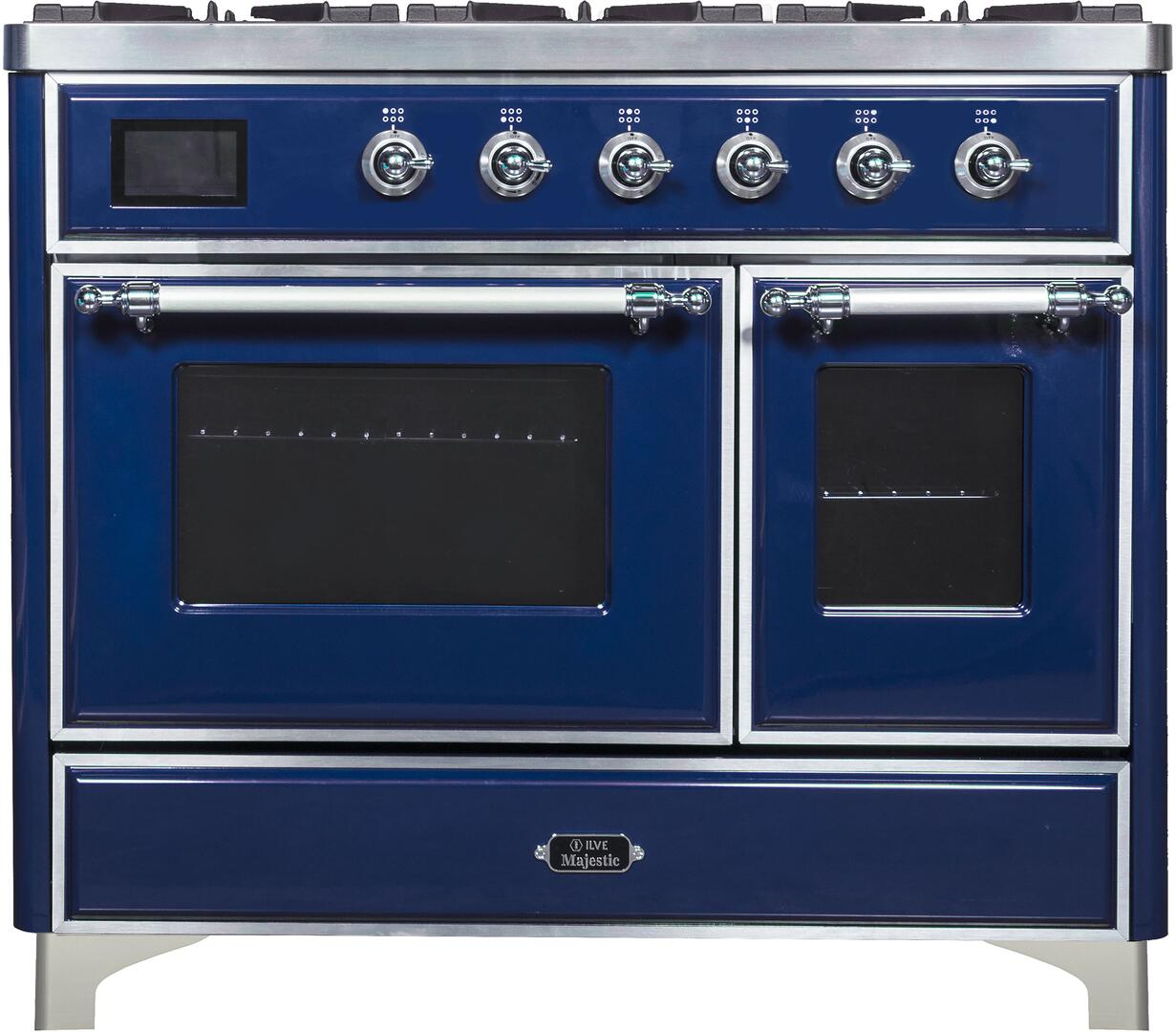Ilve Majestic II UMD10FDNS3MBC Freestanding Dual Fuel Range Blue, UMD10FDNS3 Front CD